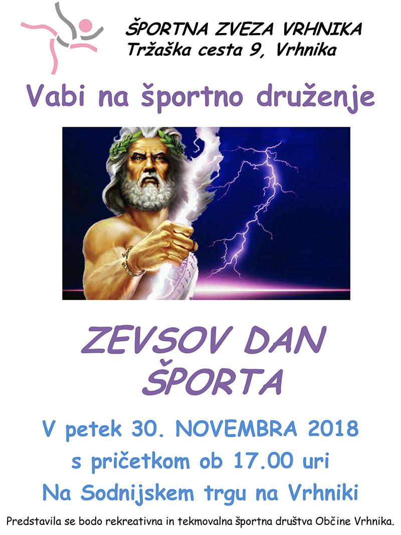 ZEVSOV DAN ŠPORTA NA VRHNIKI 2018